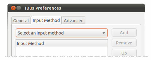 IBus Preferences - Select an Input Method