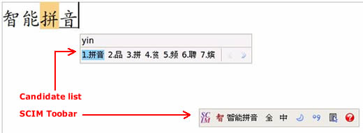 Inputting Chinese using OpenOffice with the Ubuntu Smart Pinyin SCIM