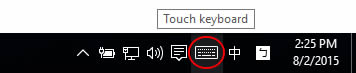 Touch keyboard button