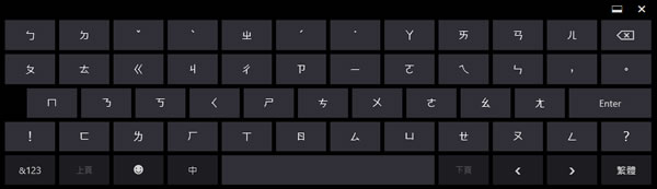 Windows 8 Touch Keyboard Zhuyin