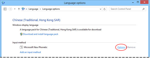 Windows 8 New Phonetic options