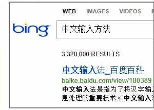 IE10 Bing Chinese search results