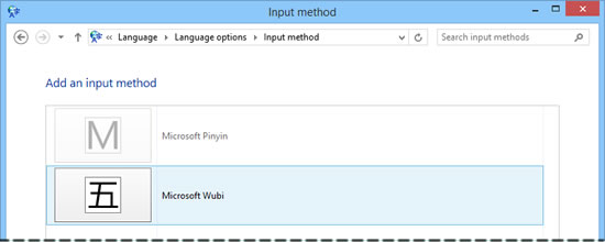 Windows 8.1 simplified Chinese input methods